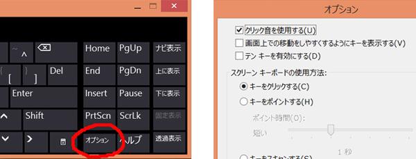 クリーンキーボードWin8_オプション