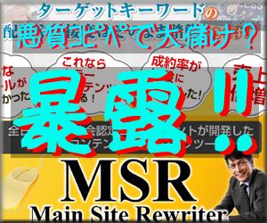 暴露 メイン・サイト・リライター MSR