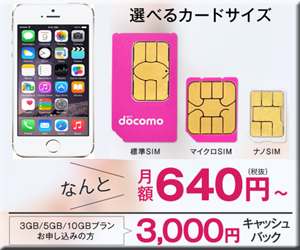 SIMカード NifMo iPhone