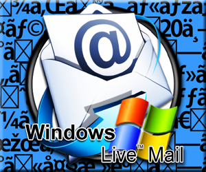 Windows 10 Live mail 文字化け