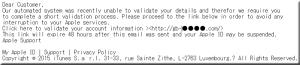Apple フィッシングメール