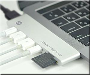 マルチ USB-C ハブ TUNEWEAR ALMIGHTY DOCK TB2 HDMI ポート MacBook Pro 拡張 スロット