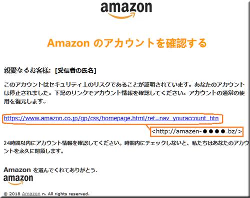 Amazon フィッシングメール フィッシングサイト 偽メール 偽サイト